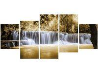 70cm 150cm obraz 5 elem Wodospad ścienny druk cyfrowy