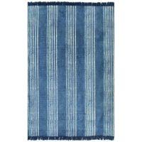 Dywan typu kilim, bawełna, 160 x 230 cm, niebieski ze wzorem GXP-676007
