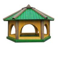 Karmnik dla ptaków Drew-Handel K60Z/D 60cm Zielony karmnik wykonany z drewna iglastego odpornego na warunki atmosferyczne