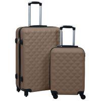 Zestaw twardych walizek na kółkach 2 szt. brązowy ABS VidaXL
