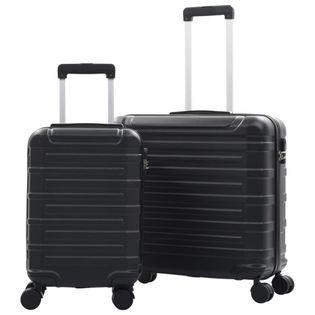 Zestaw twardych walizek 2 szt. czarny ABS VidaXL