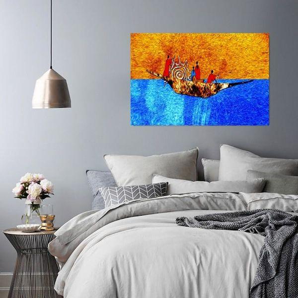 Obraz na płótnie - Canvas, Na łodzi 120x80 zdjęcie 5