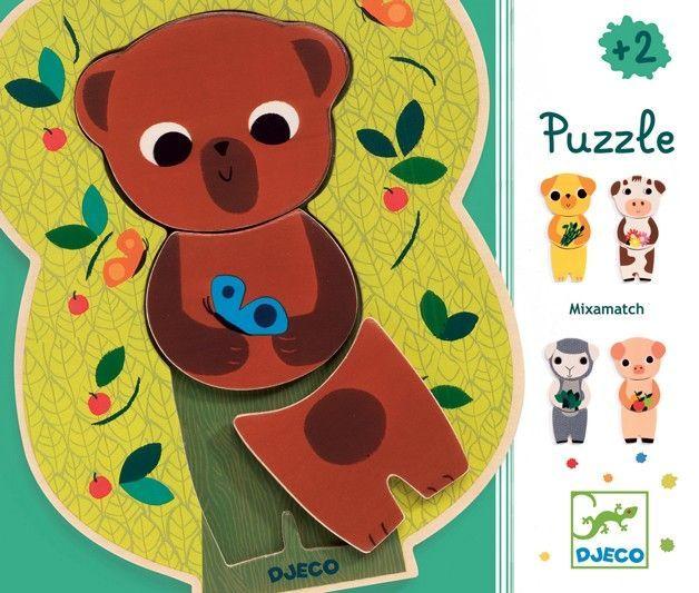 Drewniane puzzle miś Djeco zdjęcie 3