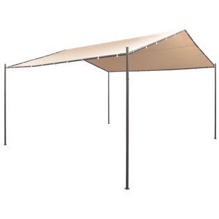 Altana/namiot ogrodowy, 4x4m, stal, beżowy
