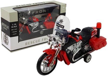 Motocykl Motor Z Napędem Policyjny 1:16