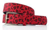 Pasek do spodni ANIMAL - panterka LAMPART - czerwony