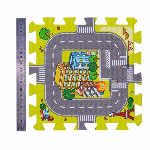 Duże puzzle piankowe mata dla dzieci ulica zdjęcie 4
