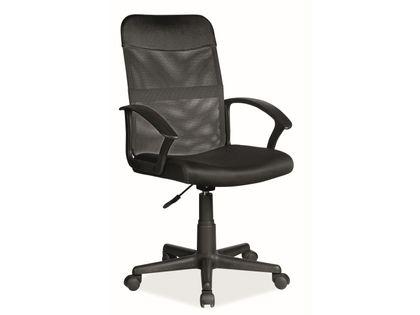 Fotel do biurka Q-702 dla dziecka CZARNY