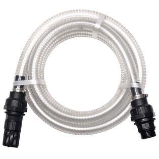 Wąż ssący ze złączkami, 4 m, 22 mm, biały