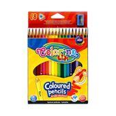 Kredki ołówkowe 18 kolorów trójkątne Colorino 57431PTR zdjęcie 1