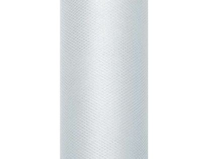 Tiul gładki, szary, 0,8 x 9 m