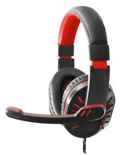 EGH330R Esperanza słuchawki z mikrofonem gaming crow czerwone