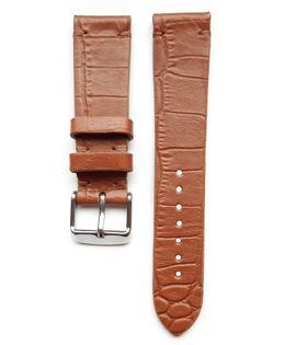 Pasek do zegarka 20mm skóra jasny brąz krokodyl - polskie - Lamato