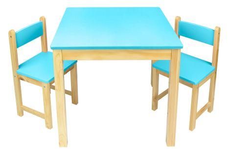 Stolik z krzesełkami niebieski