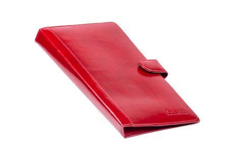 Skórzany receptownik etui na recepty, lekarskie Cartello W370 Czerwony