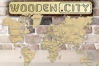 Mapa Świata L Puzzle 3D Drewniane Wooden City