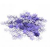 KONFETTI płatki śniegu ŚNIEŻYNKI fioletowe 15g