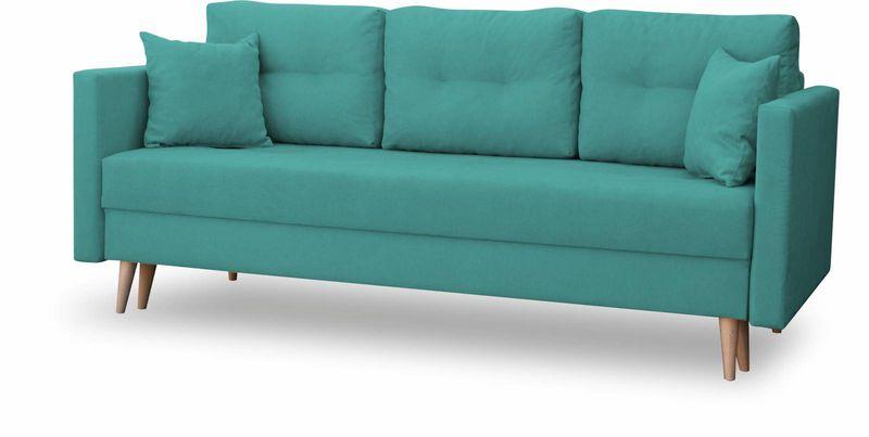 Kanapa rozkładana z funkcją spania na sprężynach, zmywalna sofa Lahti zdjęcie 2