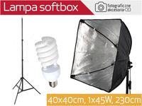 L14 Lampa światła ciągłego softbox 40x40cm 1x45W