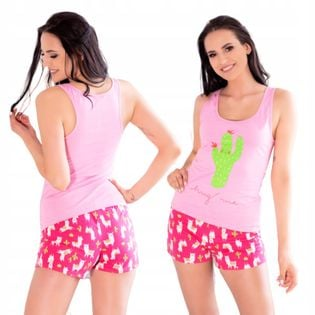 Piżama bawełniana bluzeczka spodenki L/XL