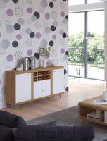 Komoda z szufladami i półkami salon biały połysk 130cm DARMOWA DOSTAWA