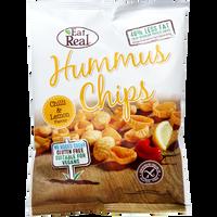 EAT REAL Chipsy z ciecierzycy z chilli i cytryną 45g