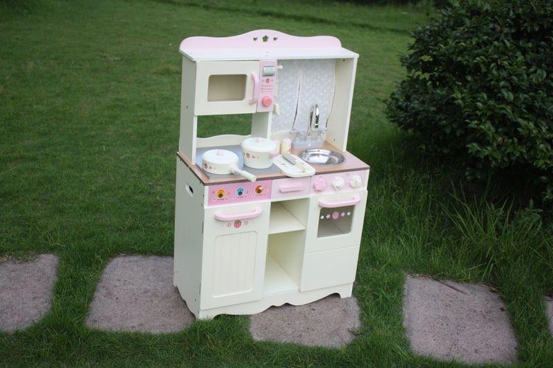 Drewniana Kuchnia Dla Dzieci VINTAGE - Duży Zestaw zdjęcie 3