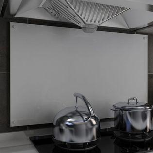 Lumarko Panel ochronny do kuchni, biały, 100x60 cm, szkło hartowane