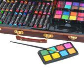 Mega Zestaw Malowania Rysowania Walizka Farby 81el 6072 zdjęcie 3