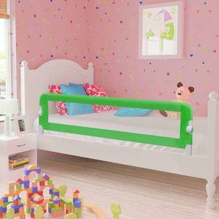 Barierki do łóżeczka dziecięcego 2 szt. zielone 150x42cm VidaXL