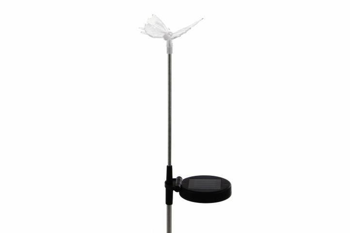 Lampa solarna kolorowa LED w kształcie motyla, oświetlenie ogrodowe zdjęcie 8
