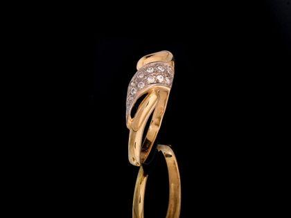 P477 Złoty pierścionek z cyrkoniami 585 /Jubi