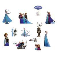 Naklejki na ścianę ścienne Kraina Lodu Frozen Elsa Olaf WS-0131