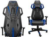 Fotel gamingowy dla gracza HUNTER V-Race niebieski