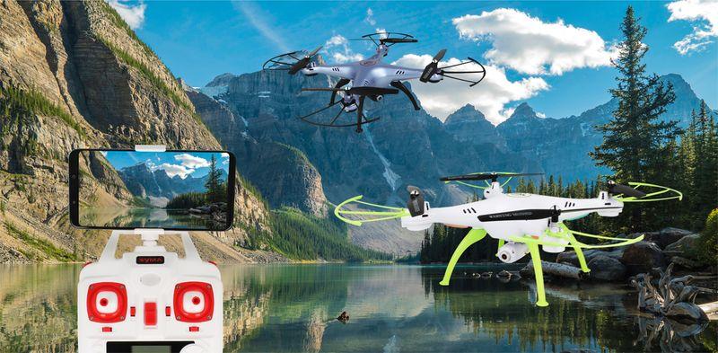 Dron Syma X5HW kamera Wi-Fi funkcja zawisu Gogle VR 3D Biały Y142GB zdjęcie 2