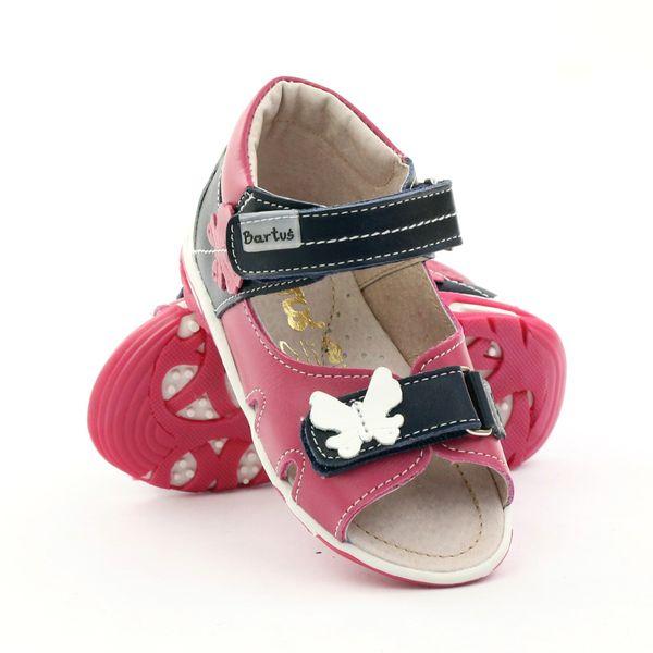 Sandałki dziewczęce motyl Bartuś różowe r.21 zdjęcie 4