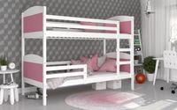 Łóżko piętrowe MATEUSZ COLOR bez szuflady 190x80 + materace