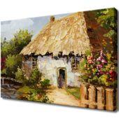 Obraz Na Ścianę 60X40 Wiejski Domek Wiejski Domek