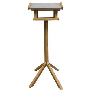 Esschert Design Karmnik dla ptaków, prostokątny, stalowy daszek, FB432