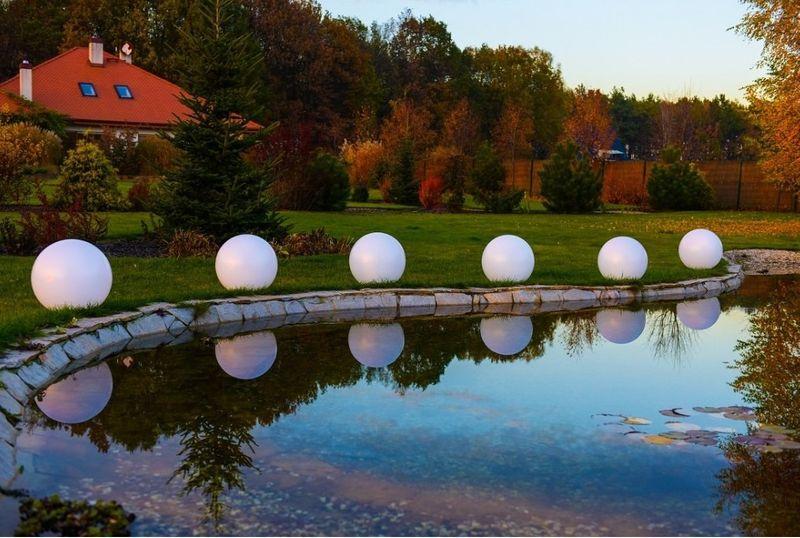 Kula ogrodowa Era 40cm solarna kula dekoracyjna z żywicy poliestrowej zdjęcie 3