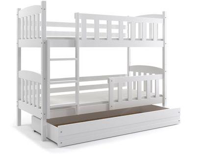 Łóżko piętrowe dla dzieci Kubuś 190x80 dziecięce + MATERAC + SZUFLADA