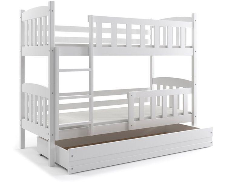 Łóżko piętrowe dla dzieci Kubuś 190x80 dziecięce + MATERAC + SZUFLADA zdjęcie 1
