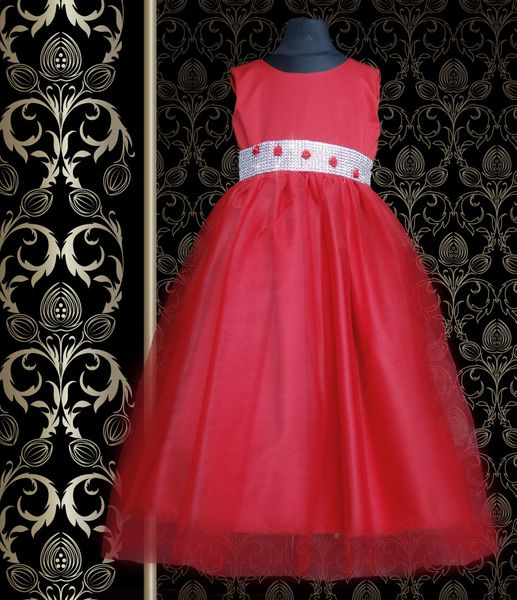 a2f64c2125 Sukienka dla druhny Silvia taśma diamentowa róże Producent 74 80 zdjęcie 3