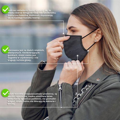 Maska na twarz Maseczka bawełniana maseczki maski ochronna na twarz osłona twarzy na Arena.pl