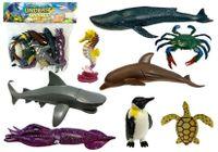 Zestaw Edukacyjny Zwierząt Morskich Figurki Delfin Pingwin Rekin