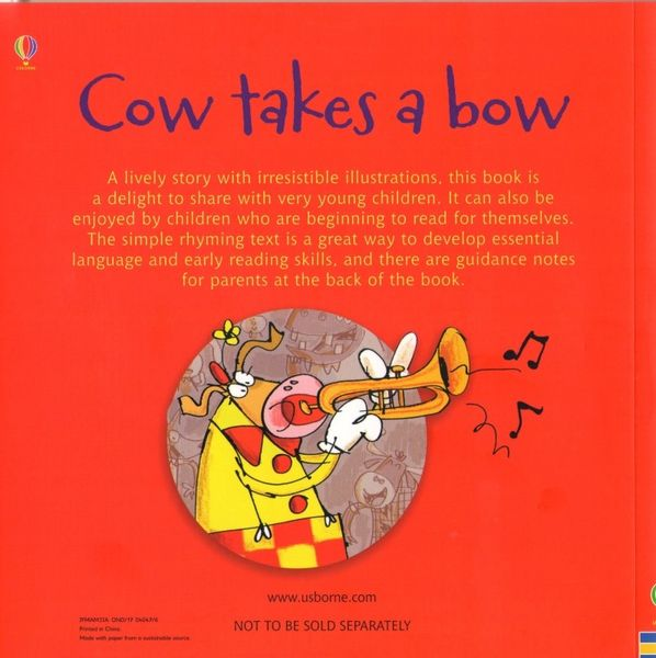 Usborne Phonics Readers - Cow takes a bow na Arena.pl