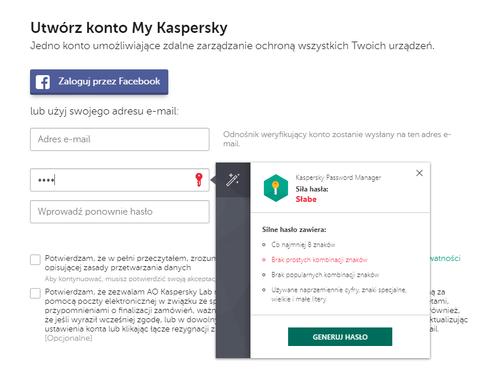 Kaspersky Password Manager 1 rok na Arena.pl