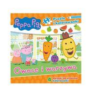 Świnka Peppa, Owoce i Warzywa. Puzzle i kolorowanka
