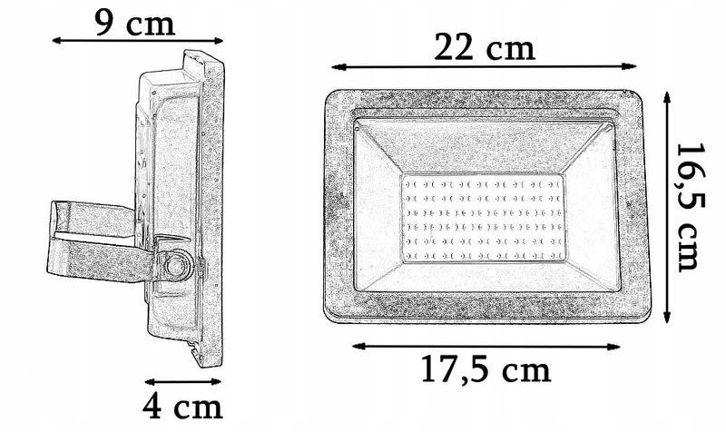 NAŚWIETLACZ LED 50W HALOGEN LAMPA ZEWNĘTRZNA SMD zdjęcie 4