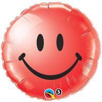 Balon foliowy 45 cm. uśmiech, czerwony, PRZYJĘCIE